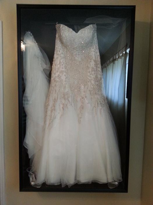 wedding dress sketch framed